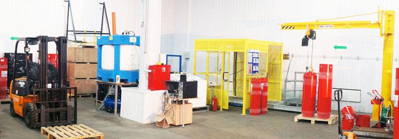Заправочная станция модулей газового пожаротушения