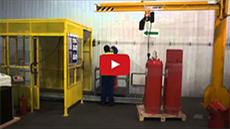 Заправка модулей пожаротушения ГОТВ на заправочной станции Холдинга ОСК групп