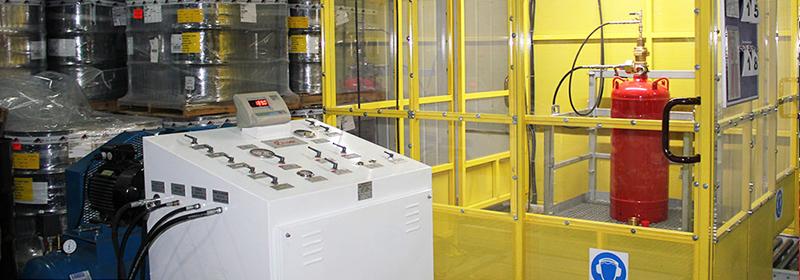 Заправка модулей газового пожаротушения ГОТВ