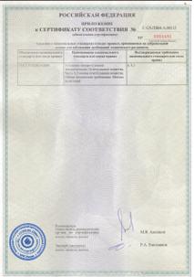 Сертификаты соответствия Novec1230