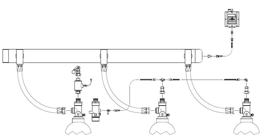 Схема подключения нескольких