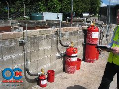 Modules of fire protection with Novec 1230 Fire Protection Fluid