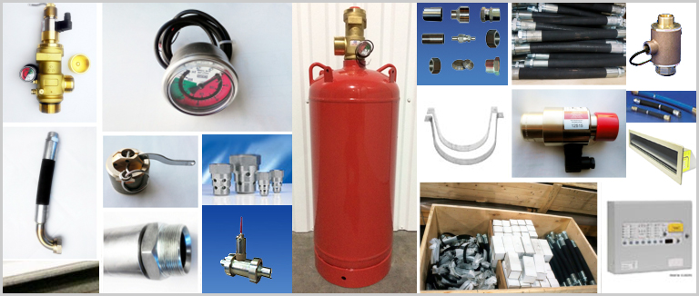 Оборудование для газового пожаротушения